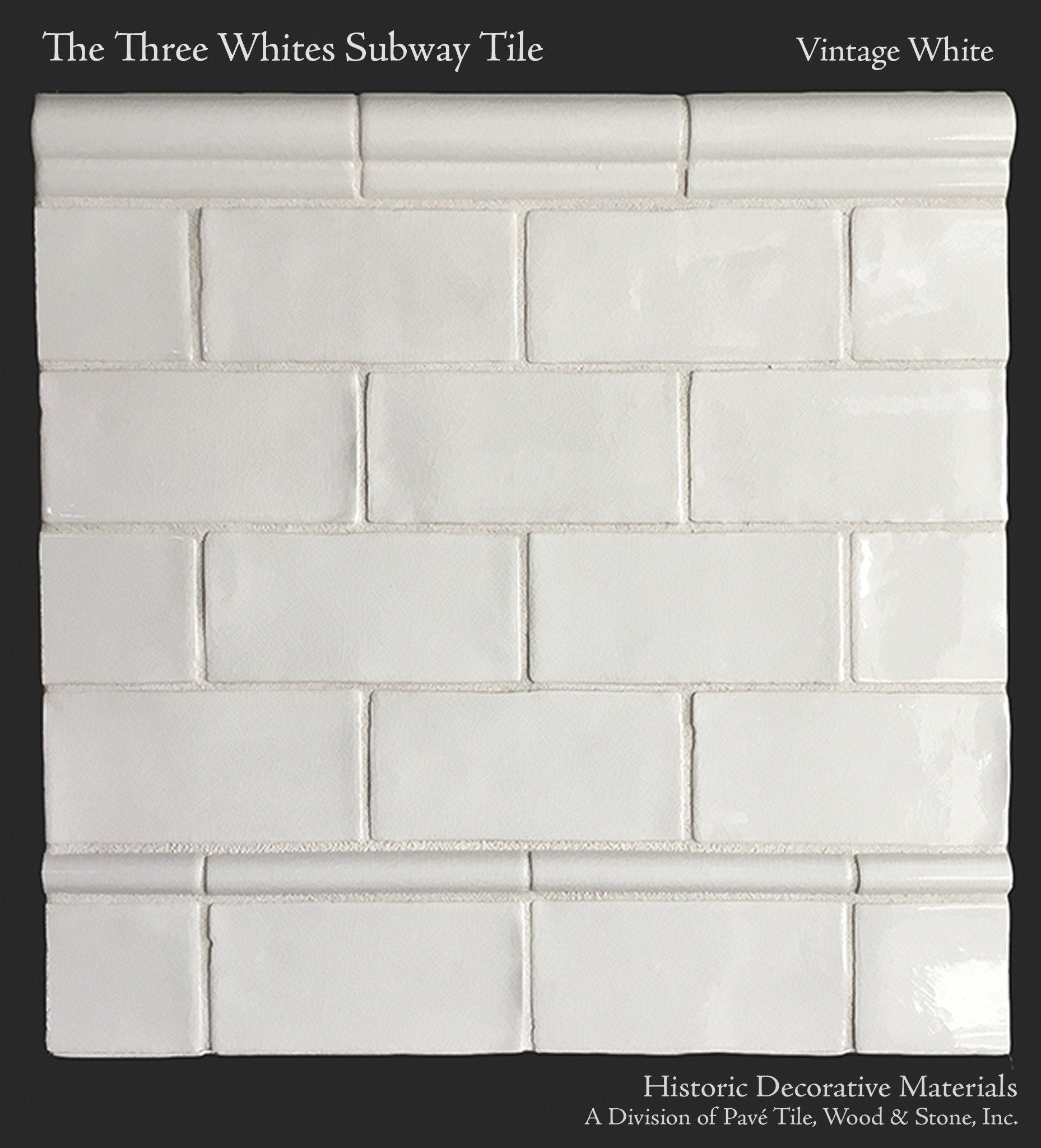 The Three Whites Glazed Ceramic 3 X 6 Subway Tile Collection In Vintage White French Oak Flooring Tuscan Decorating Subway Tile