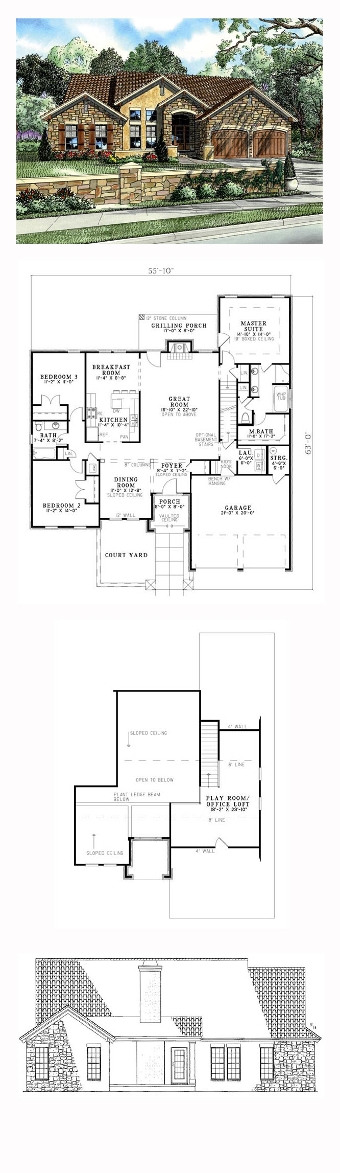 Italian House Plan 82109 Total Living