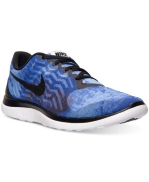 quality design 0362d 13ab0 Nike Men s Free 4.0 V5 Print Running Sneakers From Finish Line - Blue 9
