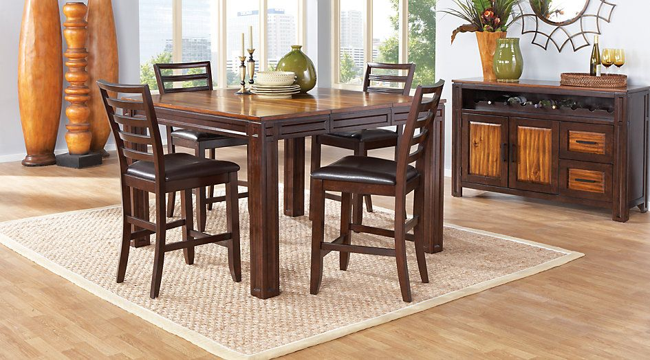 Picture Of Adelson Chocolate 5 Pc Counter Height Dining Room From Adorable Rooms To Go Dining Room Set Inspiration
