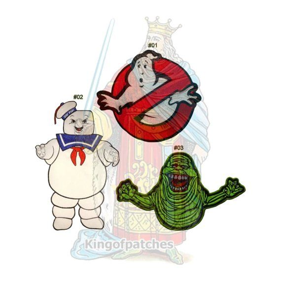 Ghostbusters Puft Marshmallow Man Slimer Embroidery Patch Iron On Patches 4 x 4/""