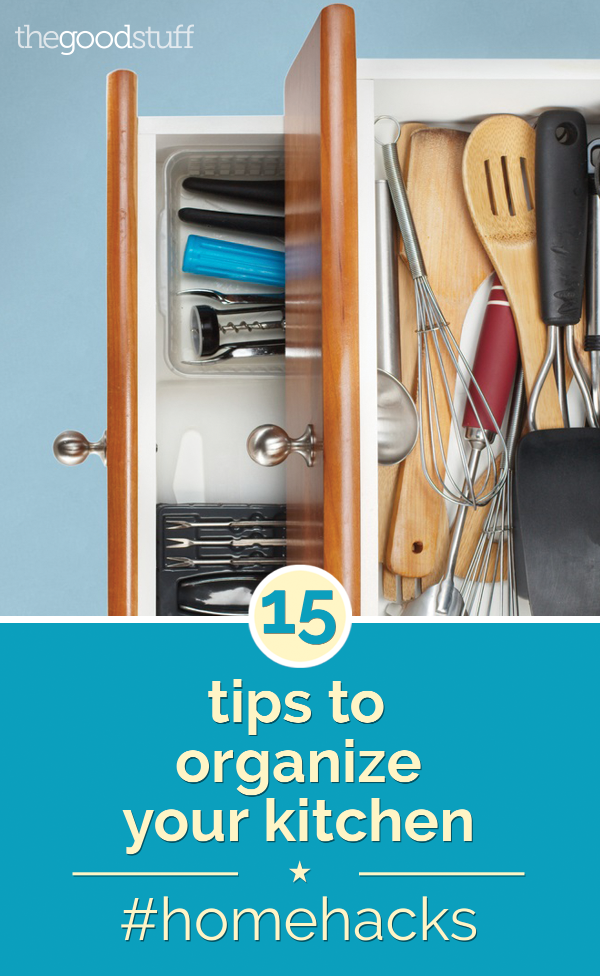 Home Hacks: 15 Tips to Organize Your Kitchen | Everything, Meals and ...