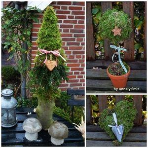 Wohnen Und Garten Weihnachten moosbäumchen by annely smit via wohnen und garten de herbst