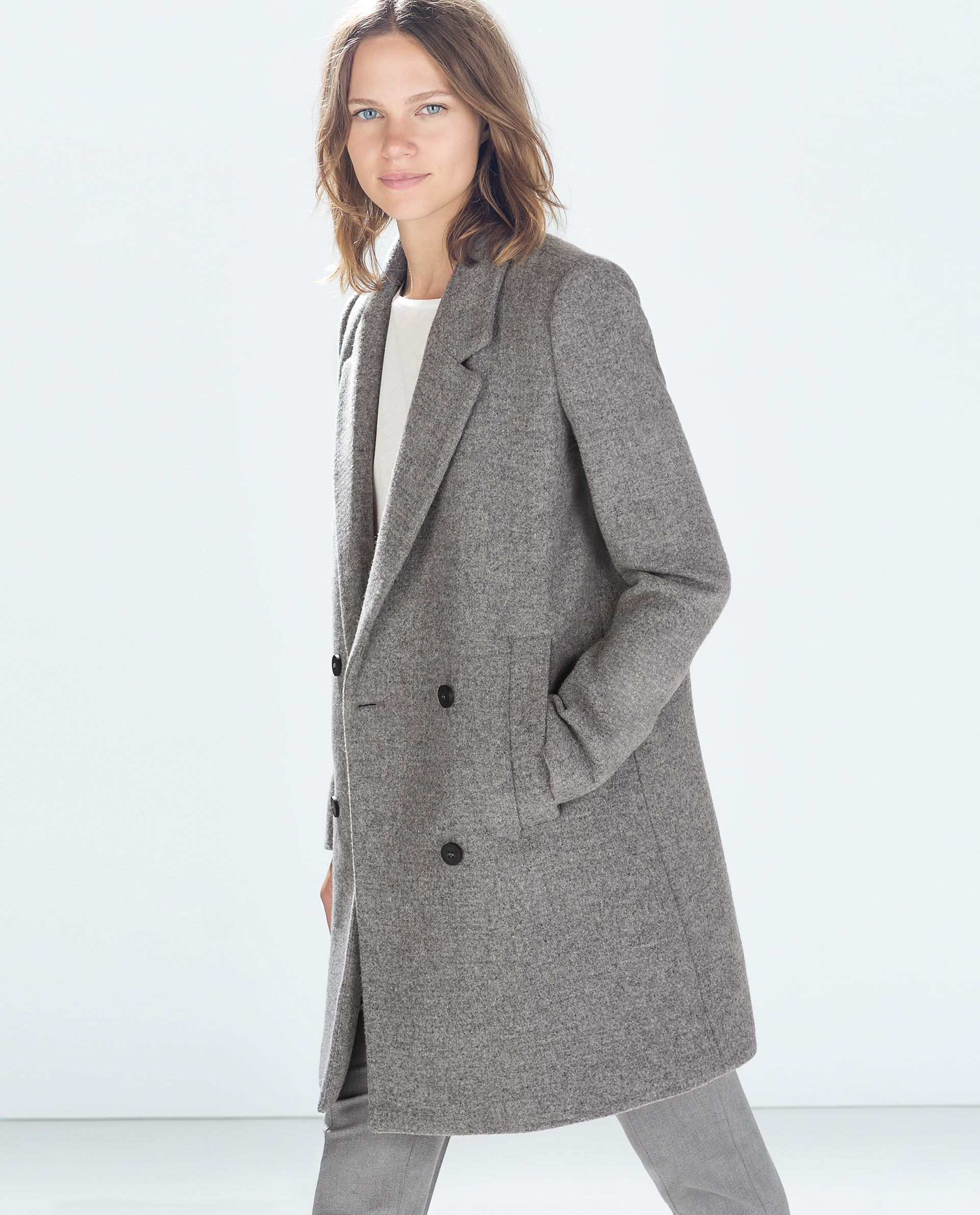 Image 2 of STRUCTURED COAT from Zara | fashions. | Pinterest ...