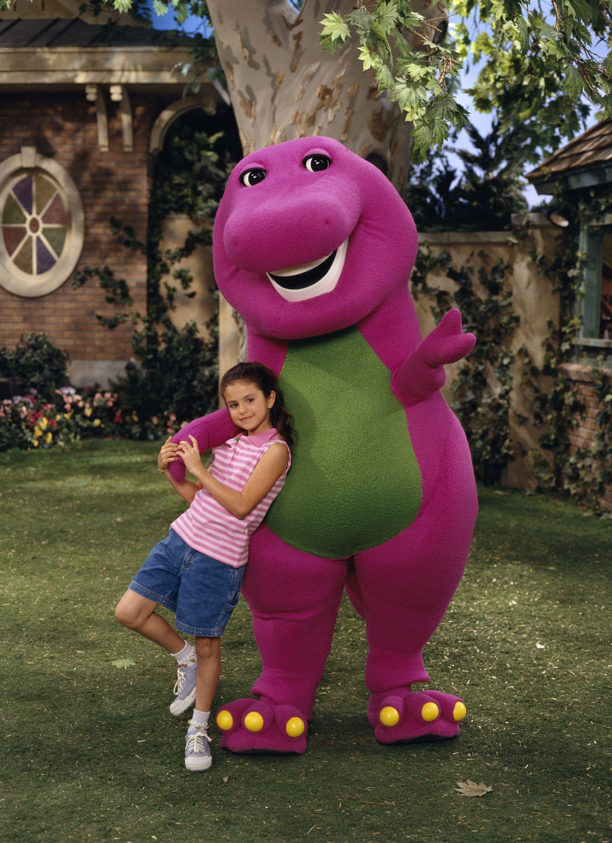 barney Selena and on friends gomez