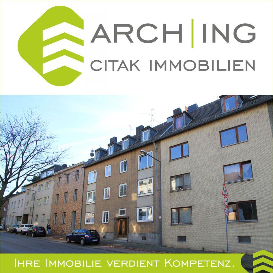 2 Zimmer Eigentumswohnung mit Wohnküche, Diele, Bad und Loggia in Aachen.
