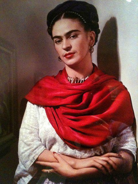 Frida Kahlo With Magenta Rebozo, Nickolas Muray