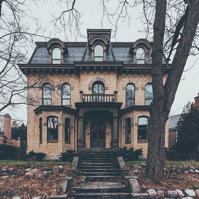 Victoriankween Love This Style W The Worn Front Walk Way In 2020 Victorian Homes Abandoned Mansion For Sale Gothic House