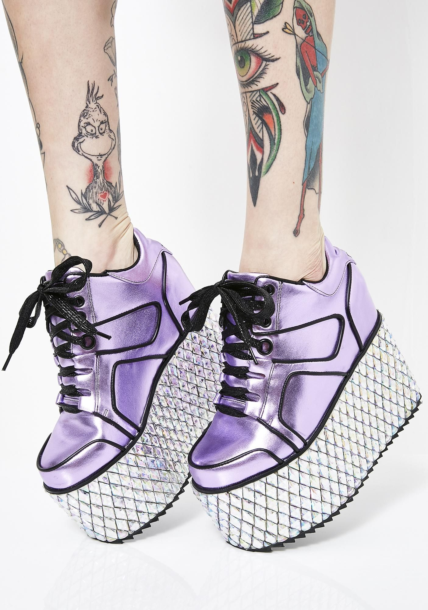 76a1f4b5da1 GLAMTRONIC PLATFORM SNEAKERS  clubexx  dollskill  sneakers  platforms   shoes  jewels