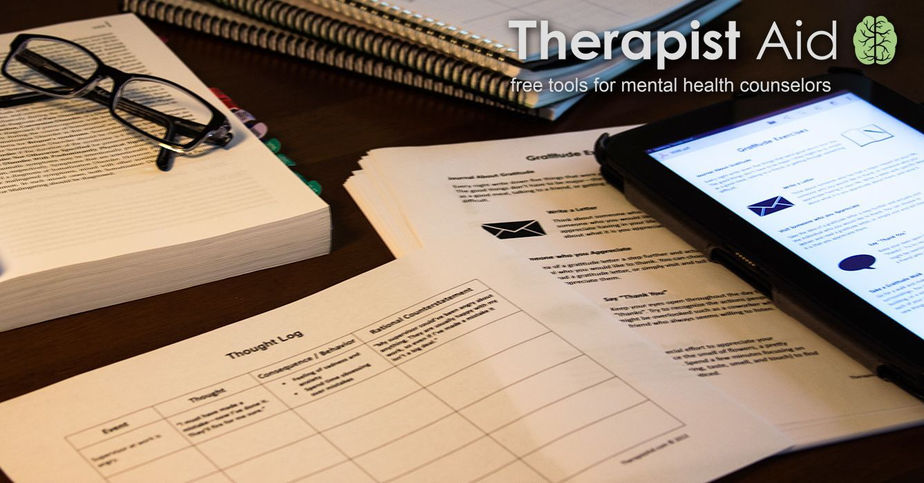 Free Therapy Worksheets And Handouts Topics Include Cbt Self