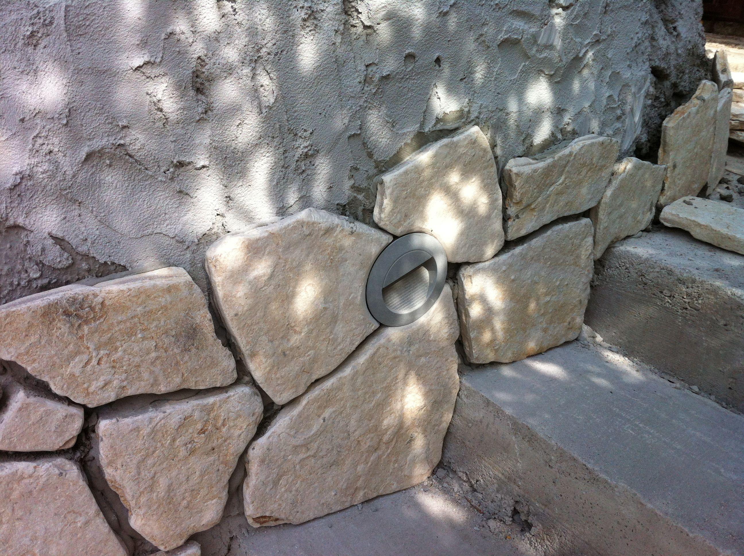 Pavillon Selber Bauen · Steinplatten · Treppe · Beleuchtung · Steinplatten  Verlegen, Bei Treppe, Led Beleuchtung Montiet