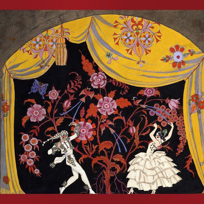 Vintage Illustration Gallery On Instagram Lizziemontgomerydesign Georges Barbier The Flamenco Art Deco Posters Prints Framing Canvas Art Art Deco Posters