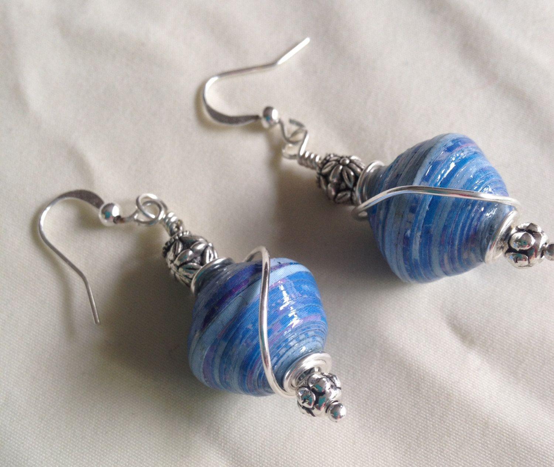 Ndebele Paper Bead Earrings By Coopsloops On Etsy