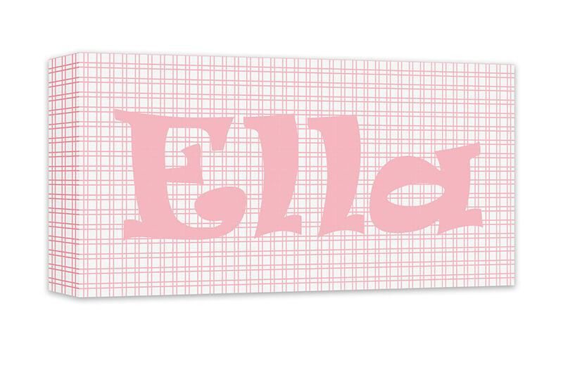 Girl Personalized Name Canvas Wall Art Panoramic | Products, Canvas ...