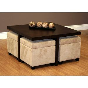 Coffee Table With Ottoman Storage Coffee Table With Stools
