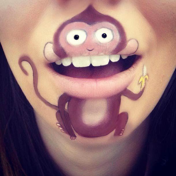 Eh non, il n'y pas que le rouge à lèvres comme maquillage pour la bouche !