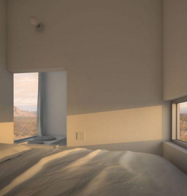 minimalistisches Hausdesign in der kalifornischen Wüste
