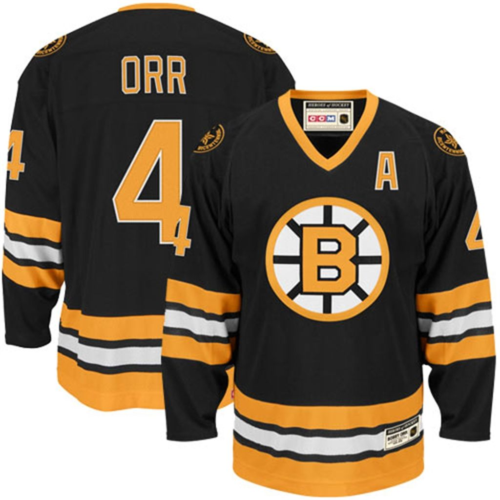 CCM Bobby Orr Boston Bruins Heroes of Hockey Jersey - Black  f5efb6d2b