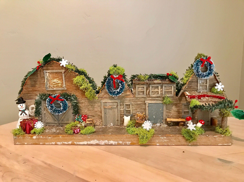 Rustic Fairy Christmas Centerpiece centerpiece fairy garden Rustic