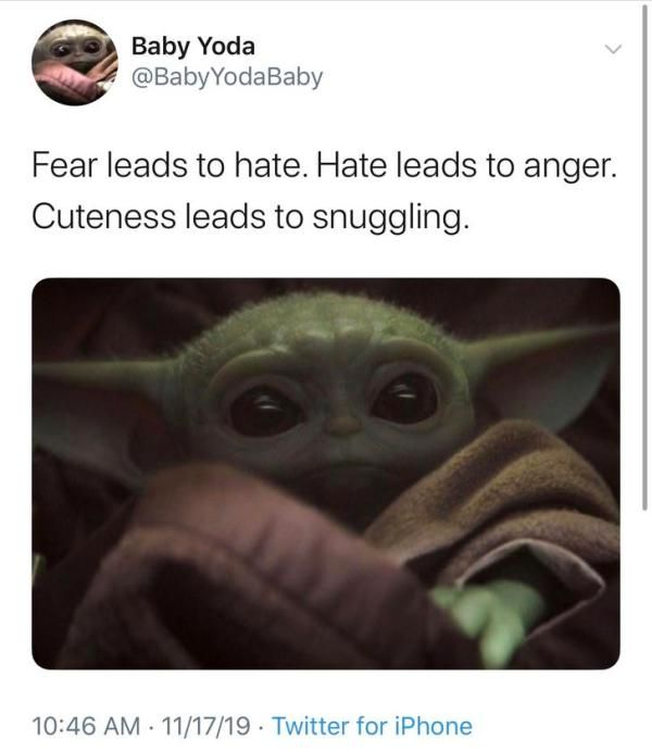 30 Baby Yoda Memes To Save You From The Dark Side Baby Memes Funny Baby Memes Yoda Meme