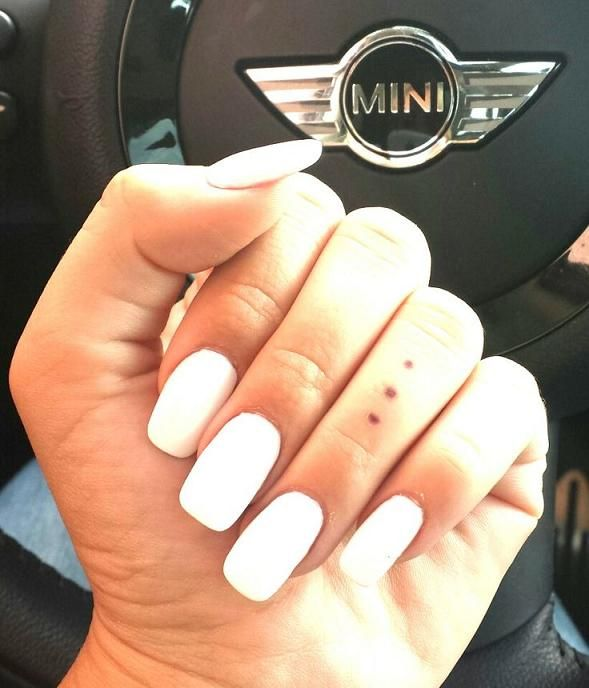 White square nails | ~ Make up & Nails ~ | Pinterest | Square nails ...