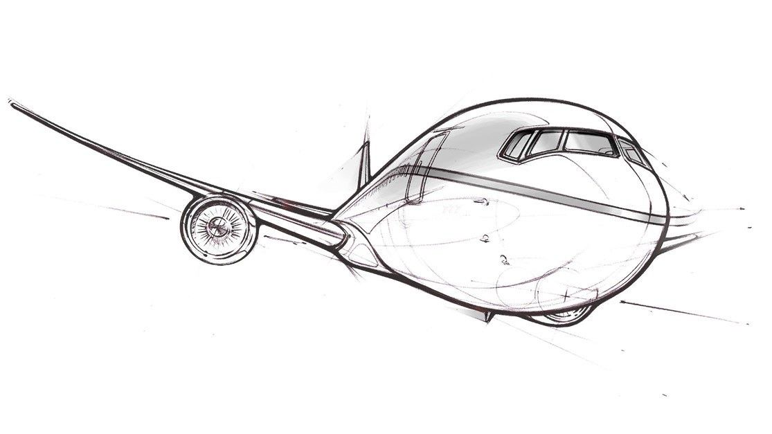 Boeing 777x Sketch Airplane Tattoos Airplane Drawing Aviation