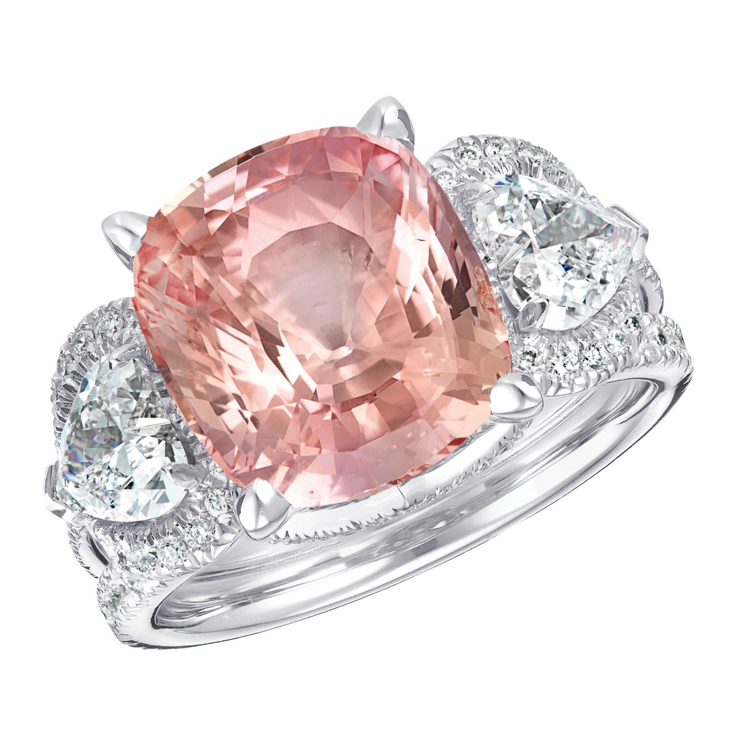 Three Colours of Love Padparadscha 7.06cts Ring #Fabergé ...