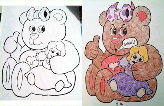 Corrupted coloring books got dark in a hurry (32 Photos)
