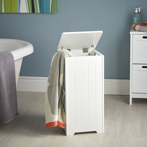 Shaker Style Wooden Laundry Hamper With Lid In 2019