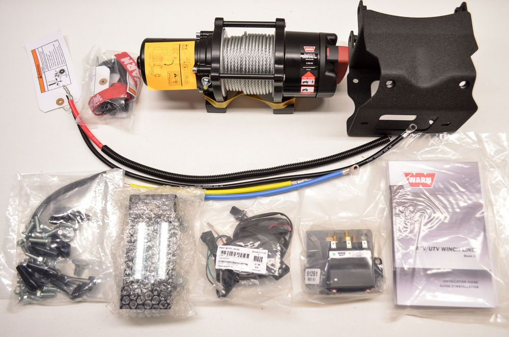 New Polaris Warn Provantage 3500 Atv Winch Kit Nos Ebay Motors Parts Amp Accessories Atv Parts Ebay Atv Winch Atv Yamaha Atv