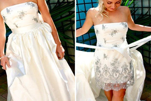 76aa2aaba Vestidos de novia convertibles  de la ceremonia al baile