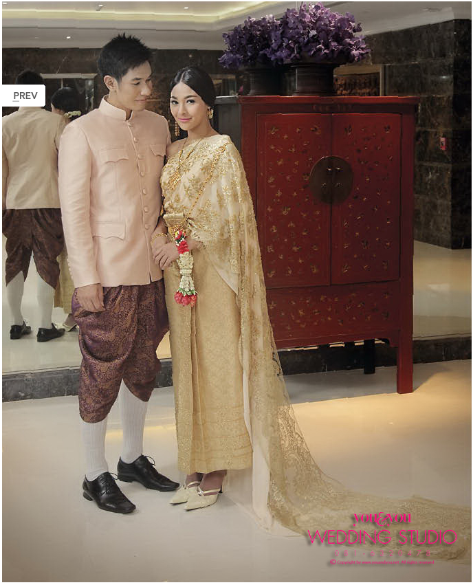 Thai Wedding Gowns: Gold And Lovely Groom-wear