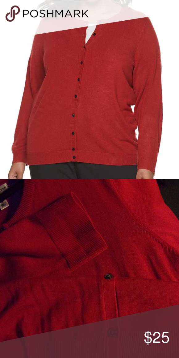 Red Classic Cardigan Cardigan Classic Cardigan Red Cardigan