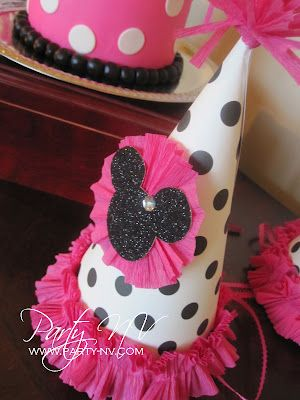 Custom Minnie Mouse Party Hats Nv