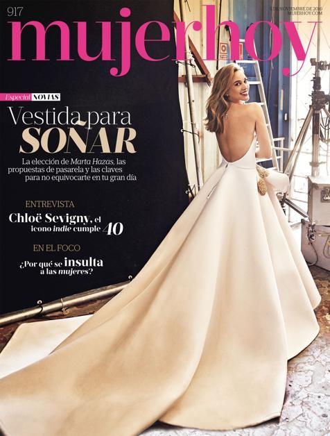 marta hazas, ¡viva la novia en nuestra portada de mujerhoy