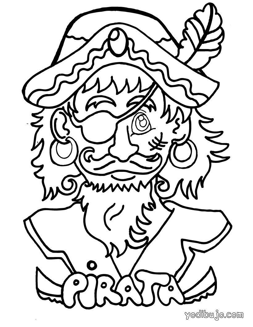 Maestra de Infantil: Piratas. Dibujos para colorear. Caretas, gifs ...
