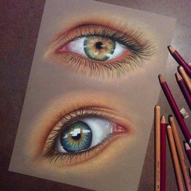 Augen gezeichnet