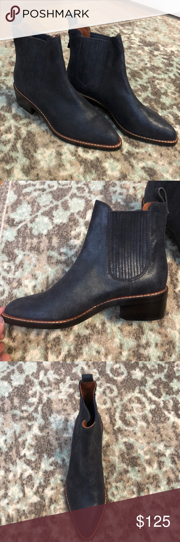 29c9912bd10 ... reduced coach bowery chelsea boot denim coach bowery chelsea boot.  denim. never been worn