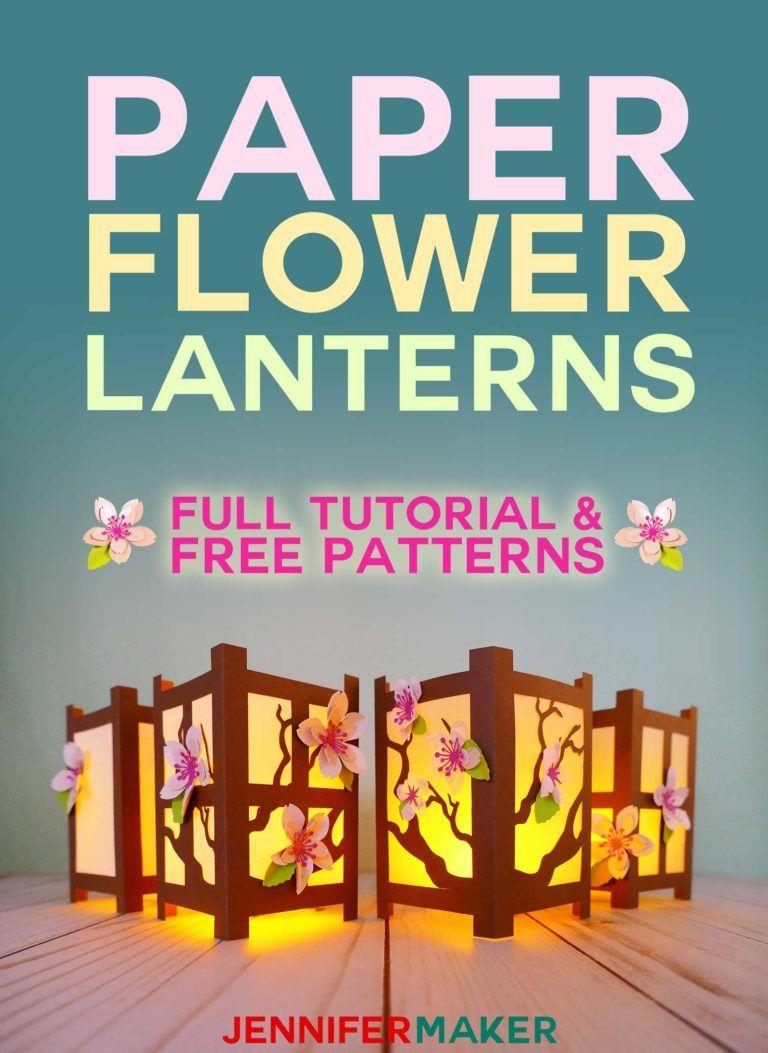 Japanese Paper Lanterns with Spring Flowers - Jennifer Maker