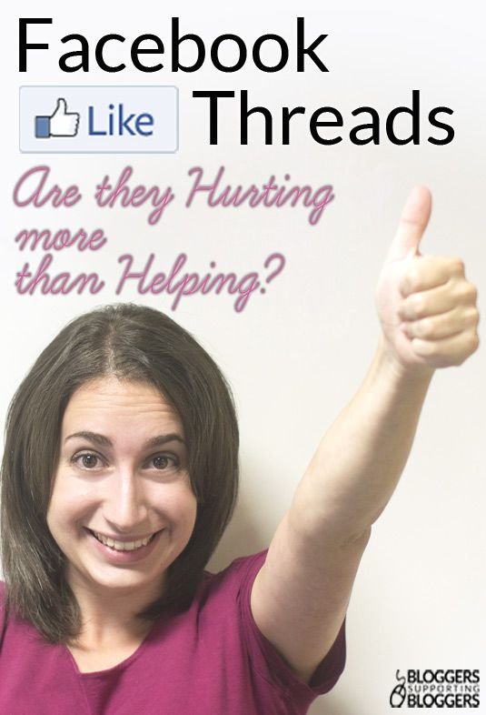 Facebook Like Threads: Are They Hurting More than Helping?