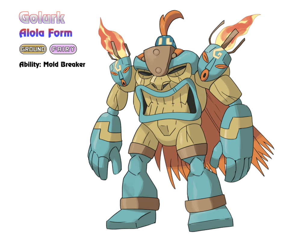 golurk alola form by locomotive111 deviantart com on deviantart i