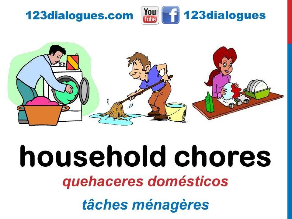 Curso De Ingles 50 Quehaceres Del Hogar En Ingles Tareas De La Casa Li Quehaceres Del Hogar Tareas De Casa Casa En Ingles
