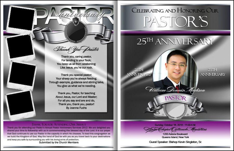 Prestigious Pastor Anniversary Program Pastor Appreciation