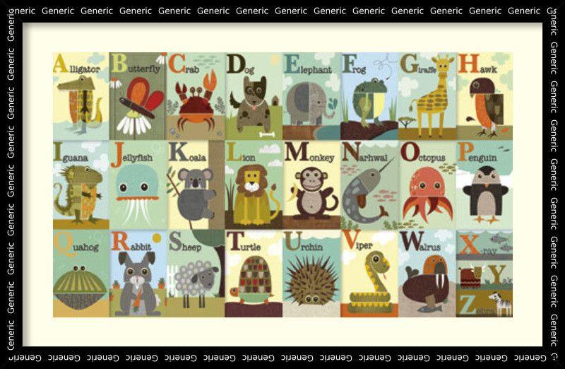 Alphabet Zoo Framed Graphic Art
