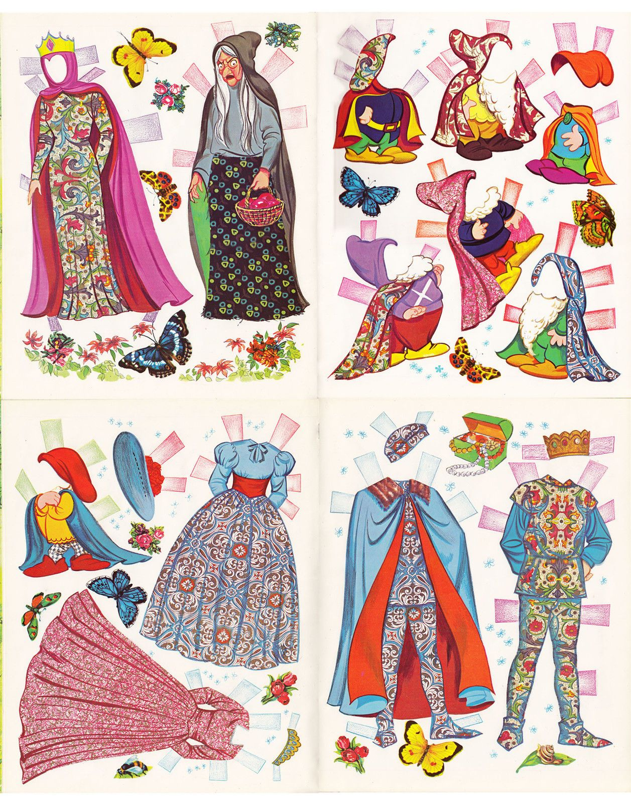 Walt Disneys Snow White And The Seven Dwarfs Paper Dolls