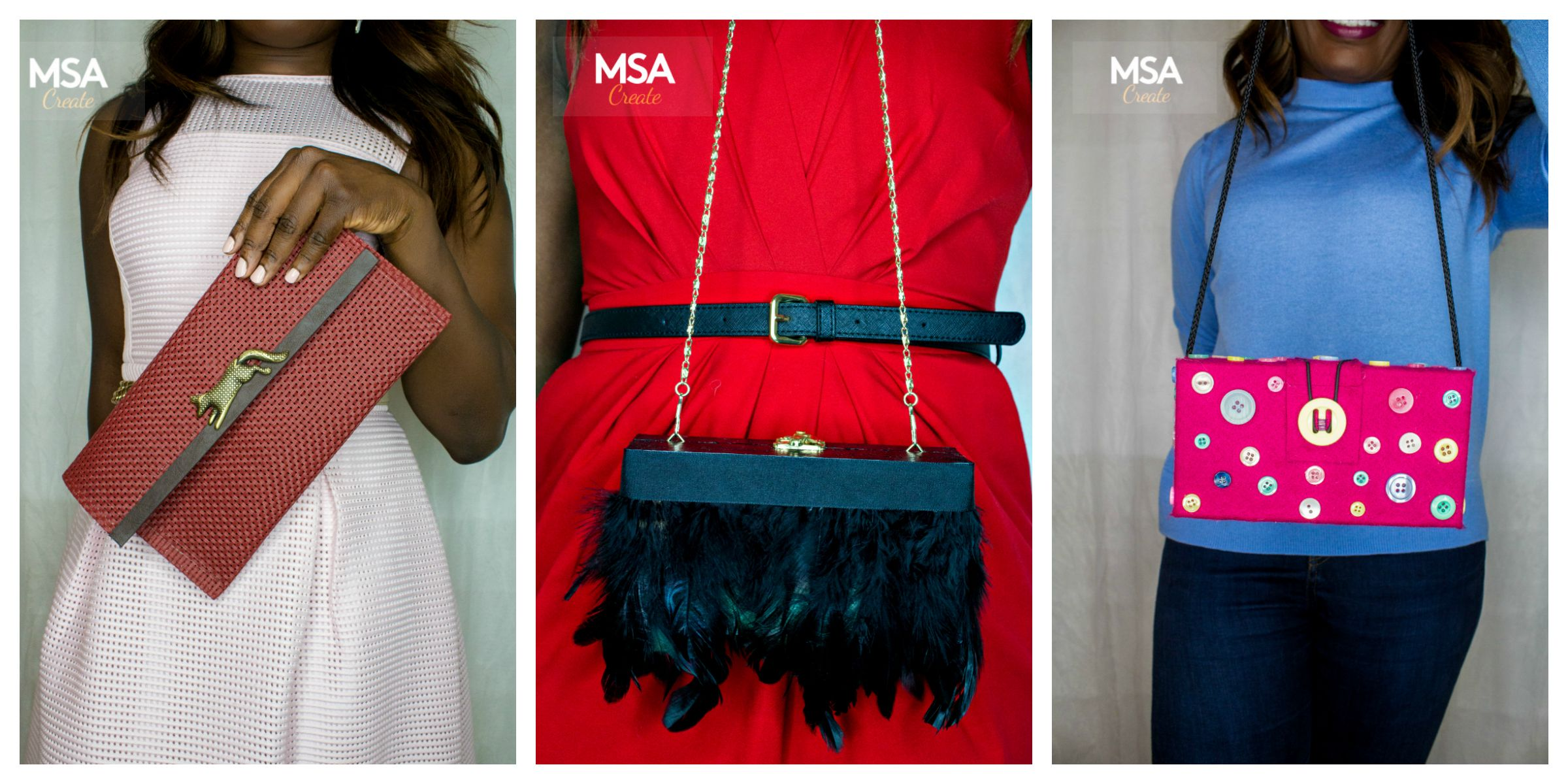 MSA Be InspiredDIY CLUTCH BAGS