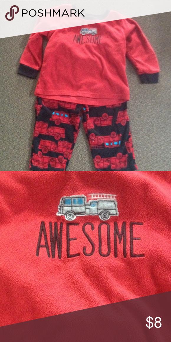 8b9a583ea1c9 Carters fire truck boys 2T pajamas Carters fire truck pajama set ...