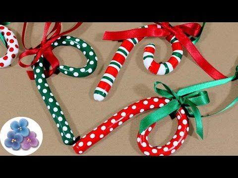 Como hacer bastones de navidad bastones de caramelo - Caramelos de navidad ...