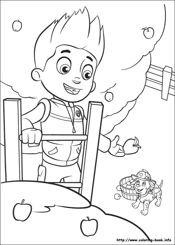 Paw Patrol coloring picture 2 Color * Cute Pinterest Paw - copy paw patrol coloring pages