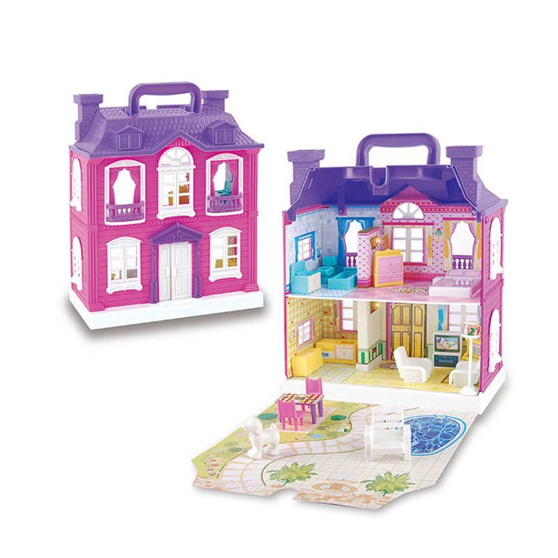 Casa de muñecas Muebles Accesorios Kit Diy 3D De Plástico En ...